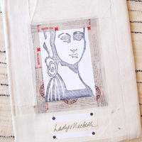 Stamped Canvas Portraits Journal Project by Pam Carriker