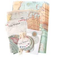 Cavallini & Co. Petite Parcel Stationery Set — Vintage Maps