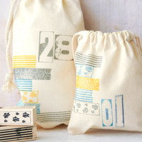 Washi Fabric Bags Project