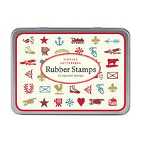 Cavallini & Co. Mini Rubber Stamp Set - Mini Vintage Letterpress