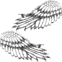 I Will Soar — Small Right and Left Cling Wing Mount Stamp Set by Pam Carriker