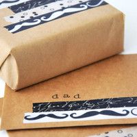 Moustache Card and Gift Wrap Inspiration Project