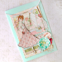 Swing Dress Stamped Card Project by Julie Nutting