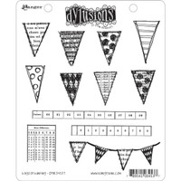 Ranger Ink Dylusions Cling Mount Stamps - Bags of Bunting by Dyan Reaveley