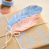 Faux Feathers Washi Project
