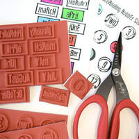 Red Lead Art Journaling Cling Mount Rubber Stamp — Postage Frame Ups