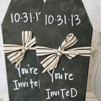 Halloween Chalkboard Coffin Invitation Project