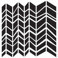 The Crafter's Workshop Chunky Chevron Stencil — 12 x 12