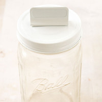 Cosmo Cricket Show Toppers — White Mason Jar Lid with White Clip