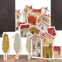 The Neighborhood Clearly Impressed Stamp Set by Susan Pagnucci