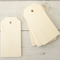 Wood Shipping Tags