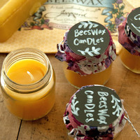 Beeswax and Bottled Candles Project
