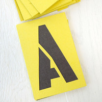 Reusable Stencil Board Lettering Set - 4 inch
