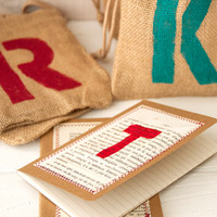 Monogrammed Burlap Bags Project