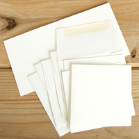 Square-Shaped Cards and Envelopes Set — 4 x 4