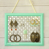 Repurposed Frame Earring Display Project