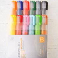 Montana Acrylic Paint Marker 2mm Set of 12 — Fine B
