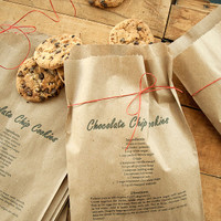 Printable Recipe on Treat Bags Project
