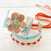 Scrap Metal Cuff Bracelets Project by Johanna Love