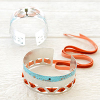 Scrap Metal Cuff Bracelets Project by Johanna Love
