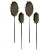 Ice Resin Media Mixage — Oval Hatpin Bronze