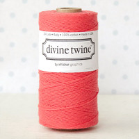 Divine Twine Baker's Twine — Solid Coral