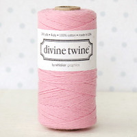 Divine Twine Baker's Twine — Solid Light Pink