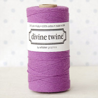 Divine Twine Baker's Twine — Solid Plum