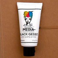 Ranger Ink Dina Wakley Media Black Gesso - 2 oz Tube