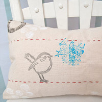 Bye Bye Birdie Mixed-Media Pillow Project