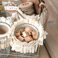 Shabby Chic Art Supplies Caddy
