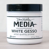 Ranger Ink Dina Wakley Media White Gesso — 4 oz Jar