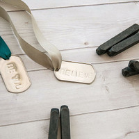 Metal Stamped Dog Tag Project