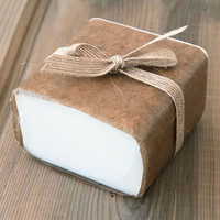 Low Sweat White Soap Base — 1 lb Wrapped Bar