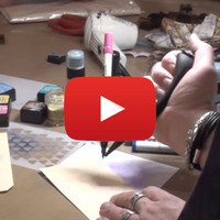 Tim Holtz Distress Marker Spritzer Demo at Winter CHA 2014