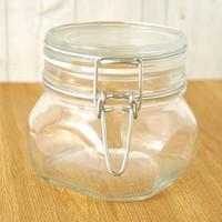 Hinge-Top Glass Jar — 19 oz
