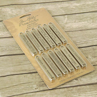 Advantus Tim Holtz Idea-ology Metal Word Bands