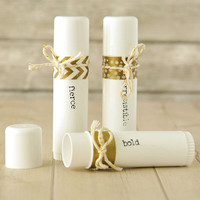 Dazzled with Gold Lip Balm Tubes Project