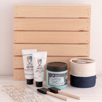 Somewhere Beyond the Sea Rustic Pallet Project by Gabriela Perdomo