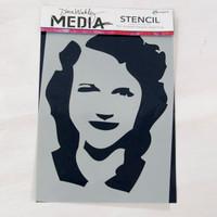 Ranger Ink Dina Wakley Media Stencil — Maggie