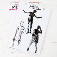 Ranger Ink Dina Wakley Media Stamps — Silhouetted Women