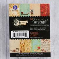 "Prima Marketing Paper Pad Bella Rouge 3 x 4"" Journaling Notecards"