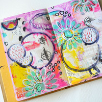 Mixed-Media Art Journal Page Project by Rae Missigman