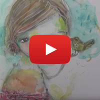 Danielle Donaldson Inspired Watercolor Girl by Mindy Lacefield