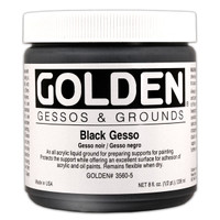 Golden Gesso Black — 8 oz