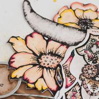 The Coloring Studio Meets Mixed-Media Project by Bekah Ellington