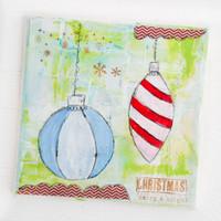 Merry & Bright Holiday Mixed-Media Project