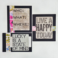 Live A Happy Today— Inspirational Card Project