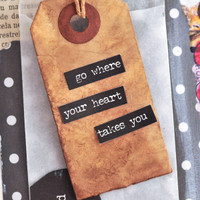 Go Where Your Heart Takes You — A Monthly Art Journal Project + A FREE Printable