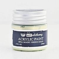 Art Alchemy — Finnabair Acrylic Paint — Opal Magic Green Gold